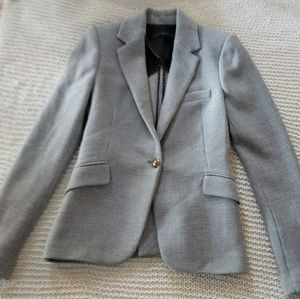 Zara woman xs woven knit blazer gold button